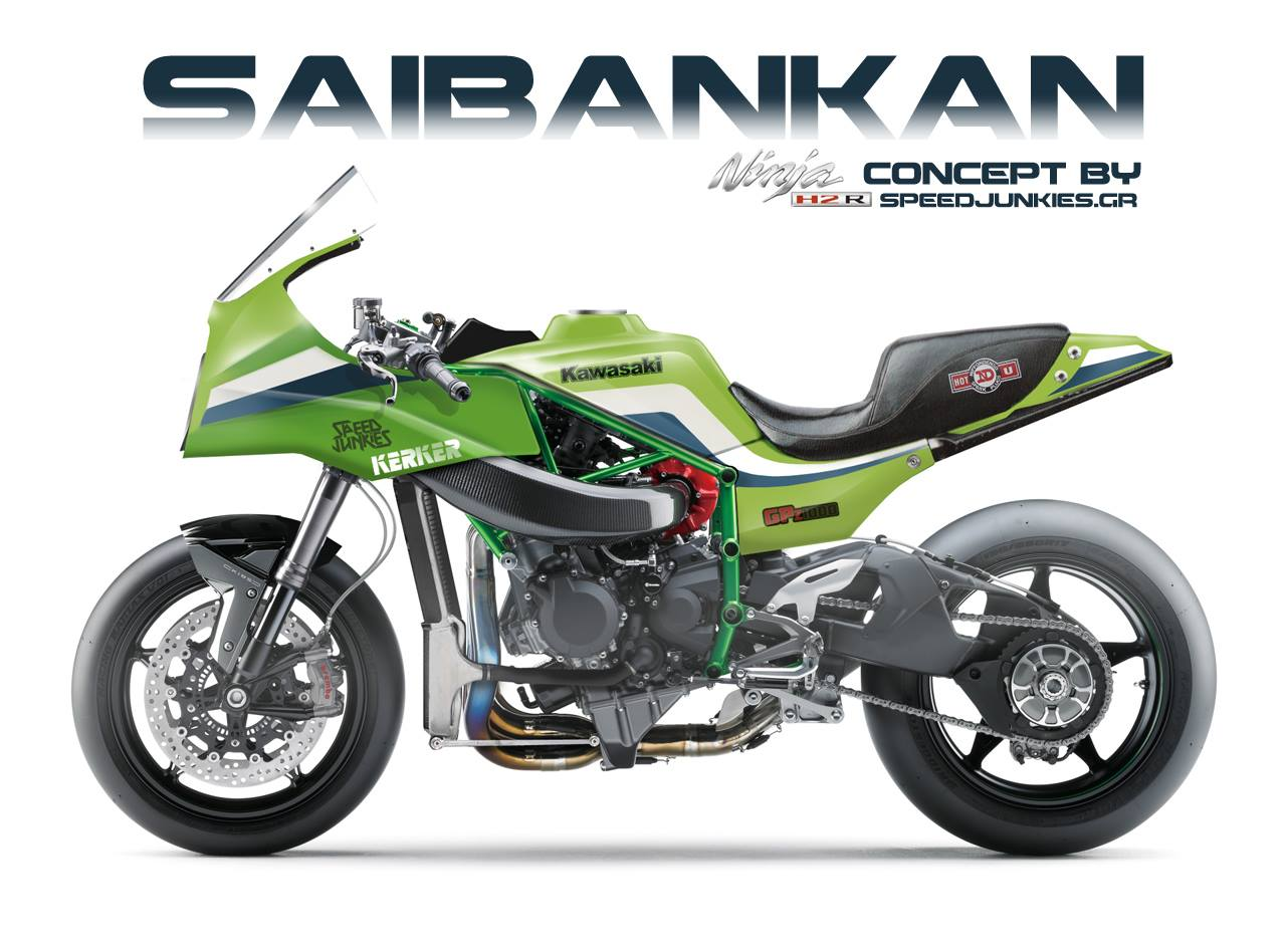 racing caf racing concepts kawasaki h2r saibankan by. Black Bedroom Furniture Sets. Home Design Ideas