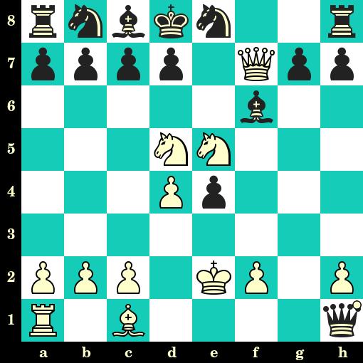 Les Blancs jouent et matent en 2 coups - Probst vs Lowig, Bad Oeynhausen, 1922