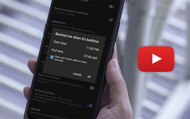 يوتيوب يطرح خاصية جديدة للتذكير بوقت النوم