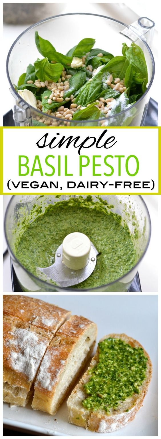 SIMPLE BASIL PESTO (VEGAN, DAIRY-FREE) #simplerecipes #basil #pesto #vegan #veganrecipes