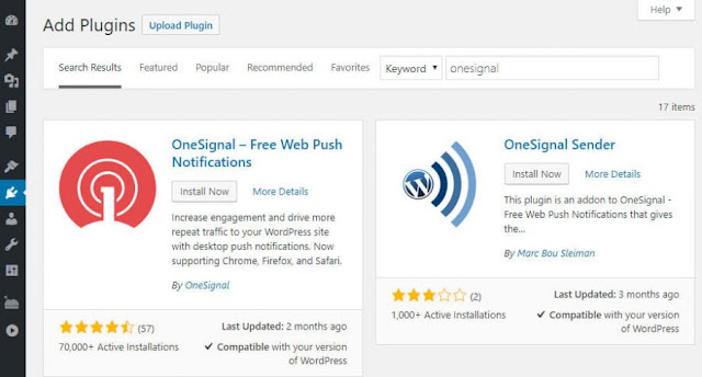 Cara Instal Notifikasi Website di Wordpress 100% Gratis
