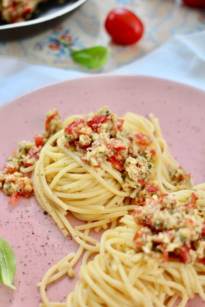 Spaghetti mit Pesto Trapanese