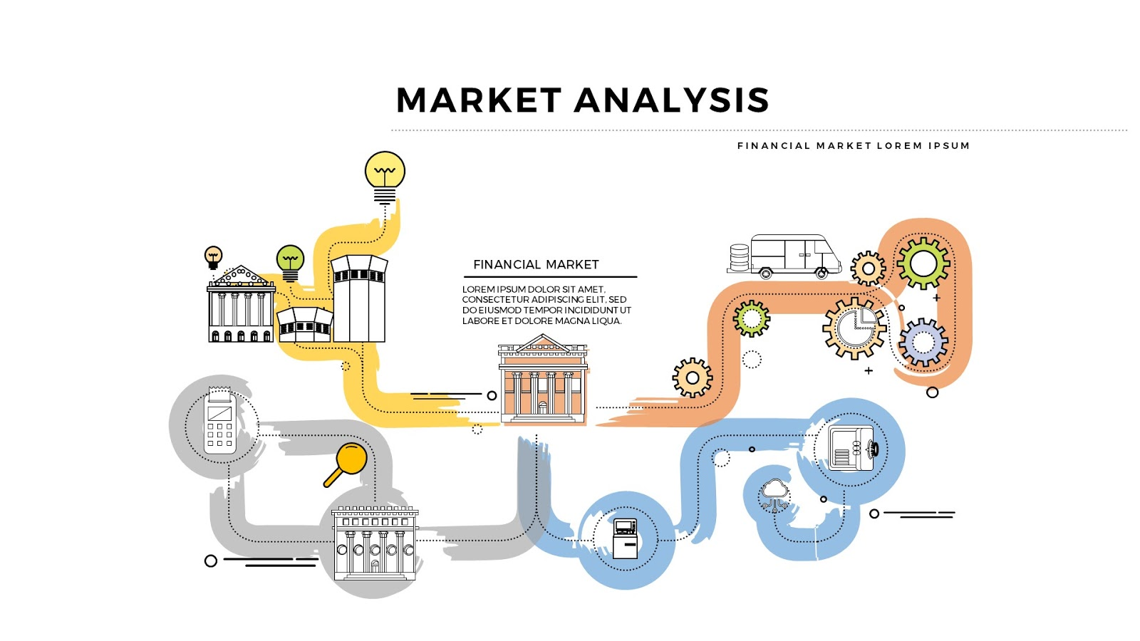 Practical Market Process and Analysis Presentation - Infographicon