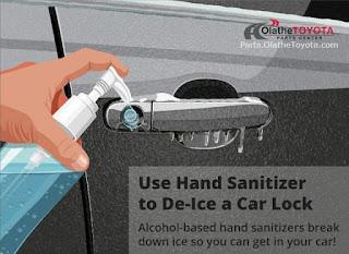 use sanitizer  on car key
