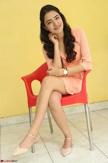 Rukshar Mir in a Peachy Deep Neck Short Dress 040.JPG