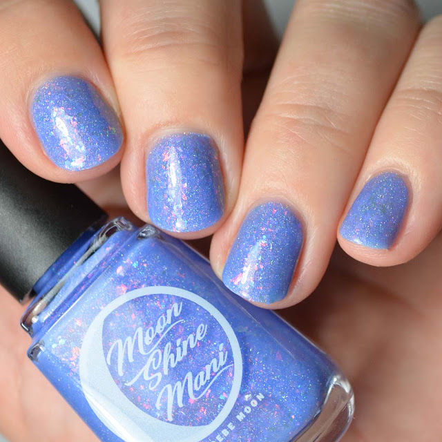 periwinkle nail polish with flakies