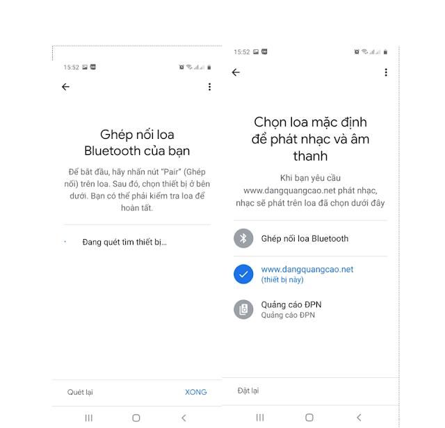 Bật kết nối bluetooth trên ứng dụng Google home