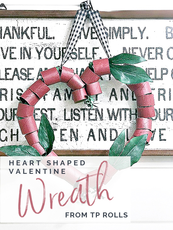 TP Roll heart wreath over lettered sign with overlay