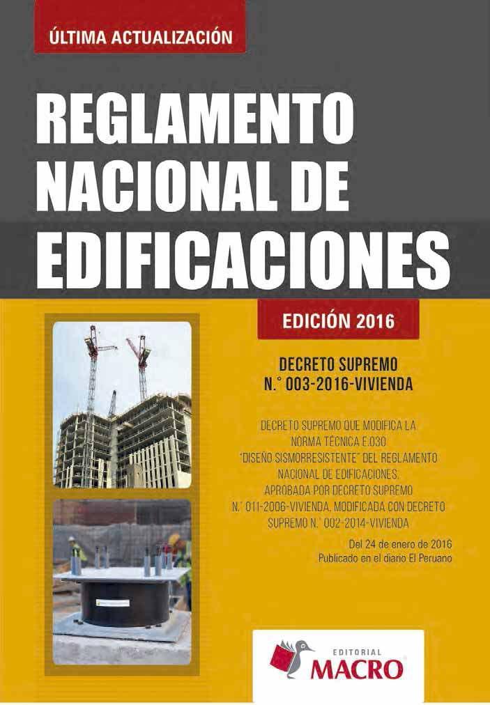 Reglamento Nacional de Edificaciones, Edición 2016