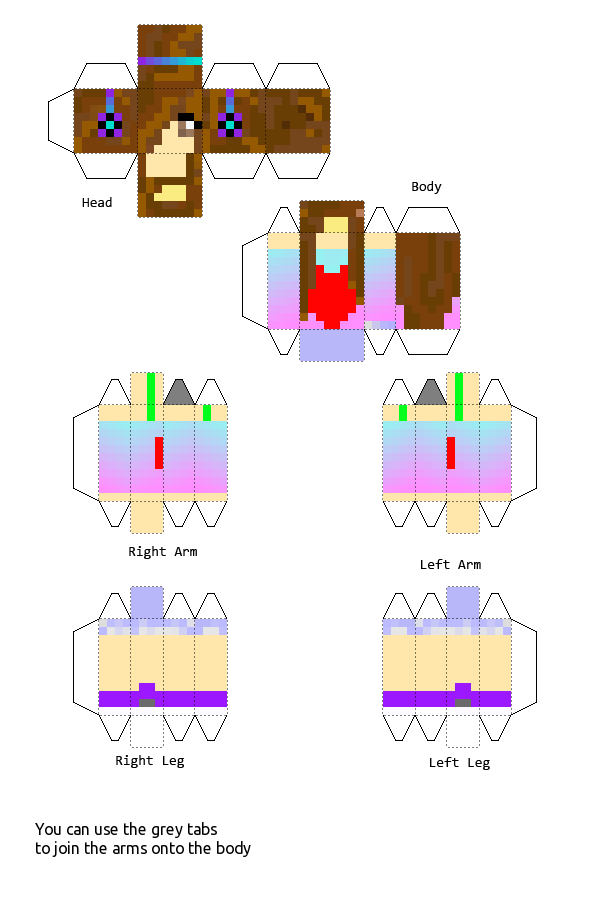 Small Paper Craft Guys Mincraft