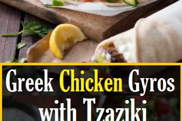 Greek Chicken Gyros with Tzaziki
