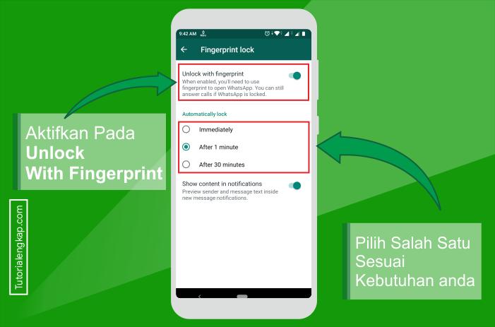 Tutorialengkap 5 Cara Mengunci Whatsapp Dengan Sidik Jari Tanpa Aplikasi Tambahan