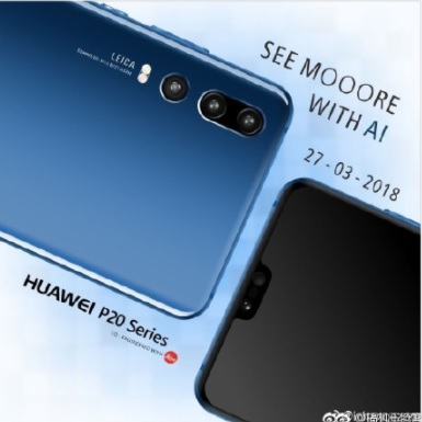 Huawei P20 Photos Reveal 3 Rear Cameras and a Notch