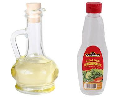 tratamiento natural con vinagre blamco para quitar los hongos