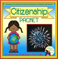 A citizenship teaching packet with printables, worksheets, and posters