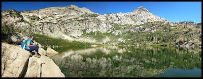 Silver Lake Panorama - Lone Peak Wilderness