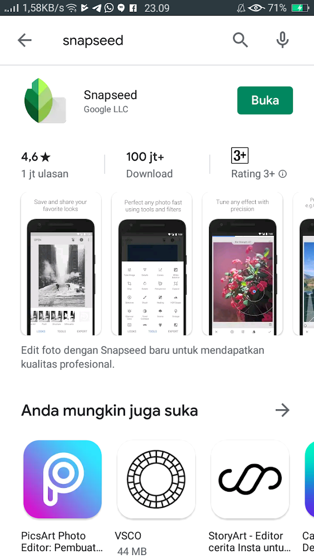 Review Aplikasi Snapsheed