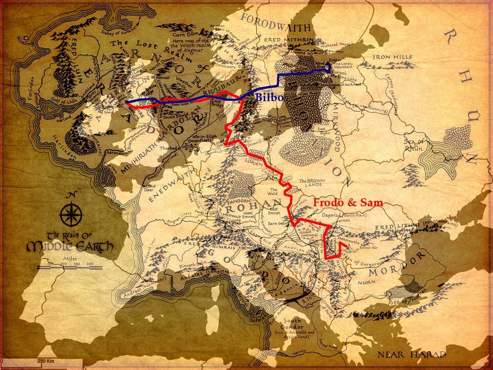 Forgotten dm middle earth overlay maps europe over tolkiens middle earth gumiabroncs Images