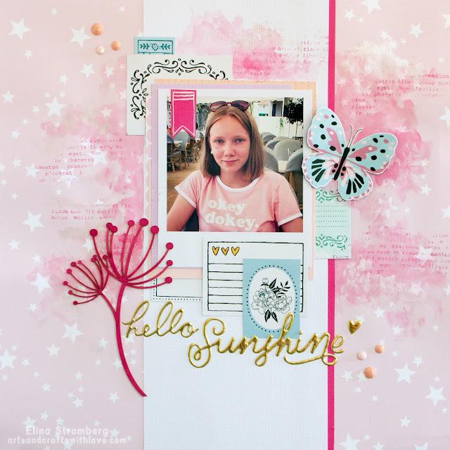 Scrapbooking layout: Hello sunshine