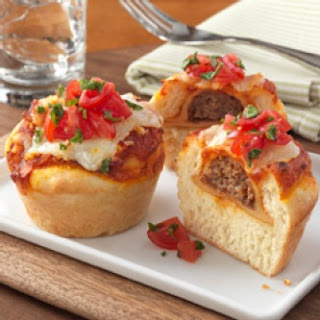 Beef Ravioli Pizza Cups