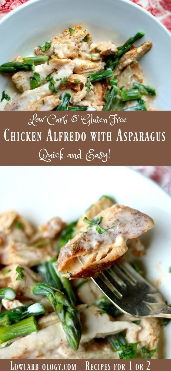 The Best Asparagus Chicken Alfredo Recipe: Creamy Low Carb Indulgence