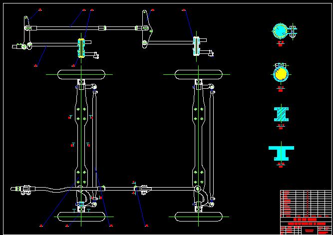 bản vẽ kết cấu hệ thống lái