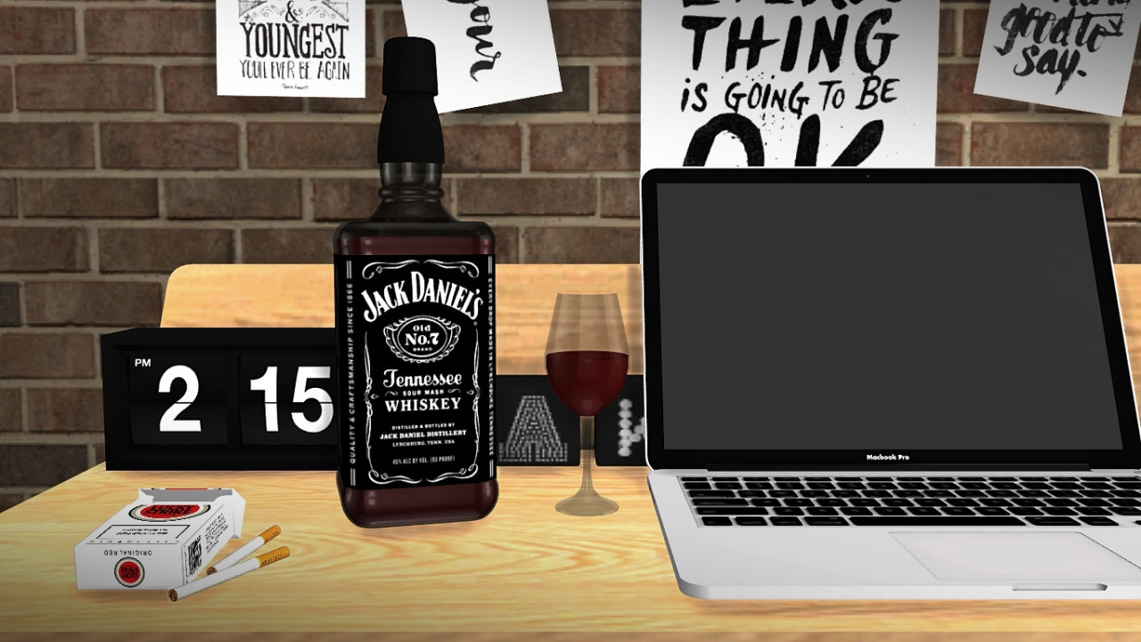 My sims 4 blog jack daniel s whiskey bottle deco for Deco appartement sims 4