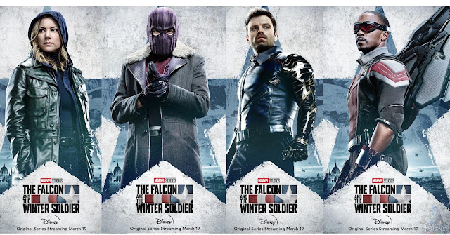 Marvel-Studios-The-Falcon-and-the-Winter-Soldier-Character-Posters, 迪士尼, 漫威, Disney Plus