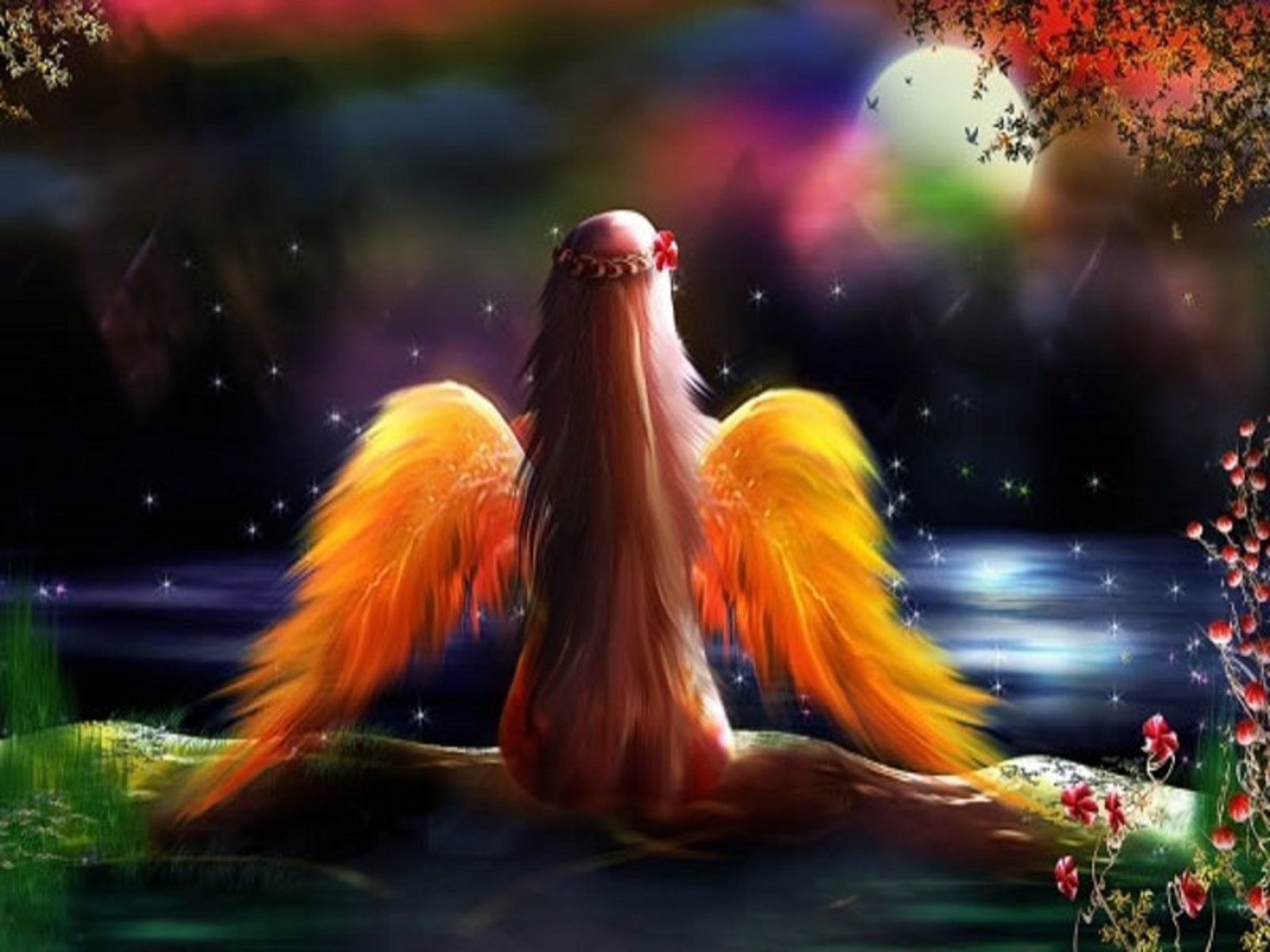 Awesome Hd Wallpaper Collection Cute Anime Mythical Angel Wallpaper