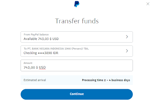 Tarik Saldo PayPal ke Bank