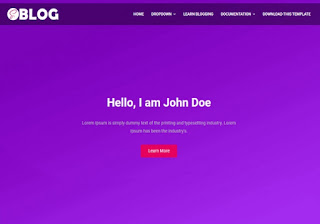 Saas Blogger Template Free Download