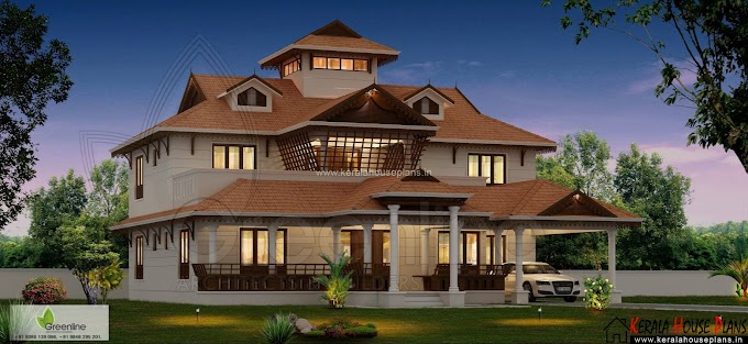 Kerala home design with courtyard 3345sqft