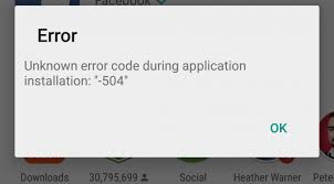 خطأ متجر Google Play 504