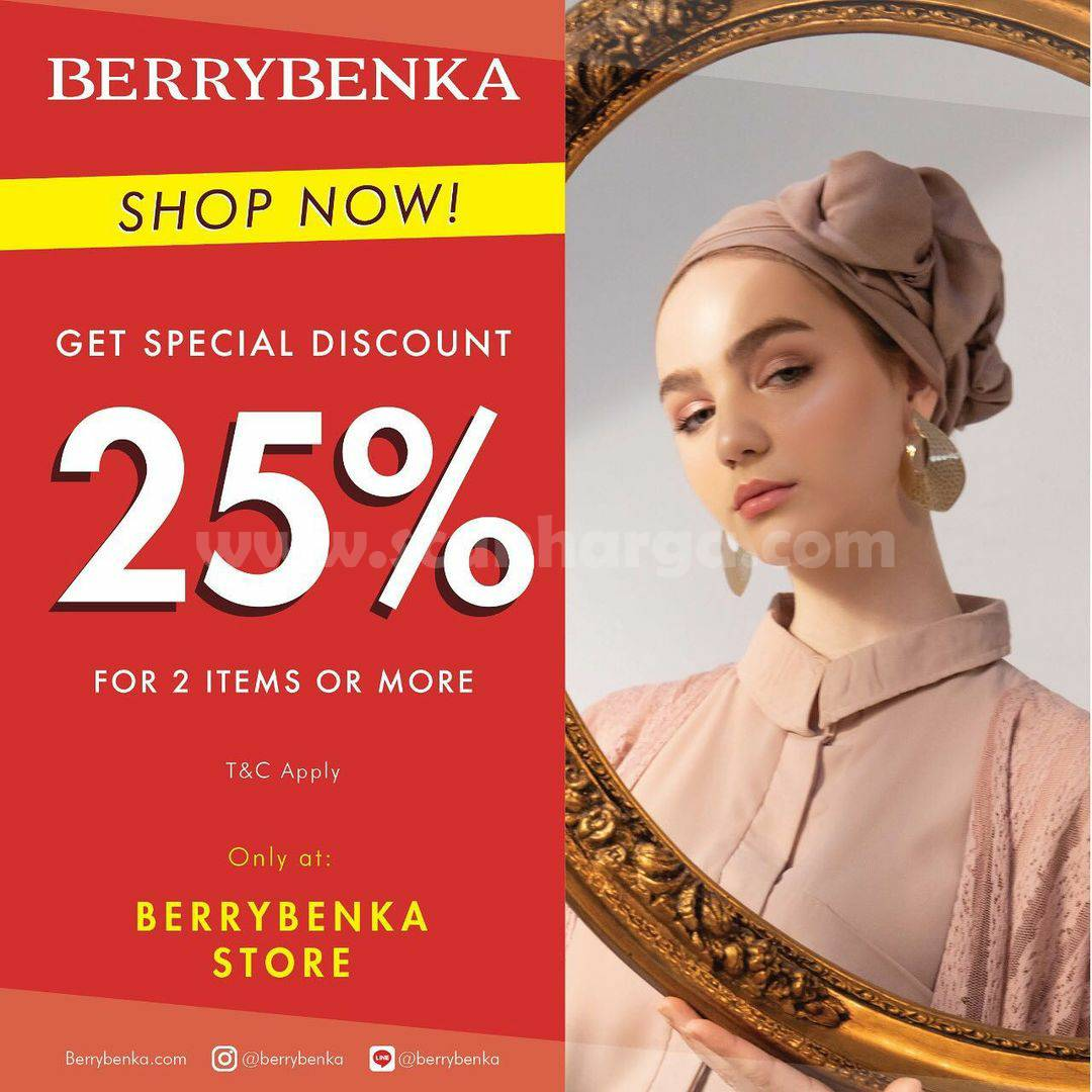 Promo Berrybenka Store – Get Special Discount 25% For 2 Item or More