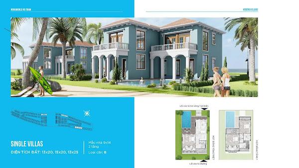 bản thiết kế mẫu SINGEL VILLA trong dự án Habana Island Hồ Tràm