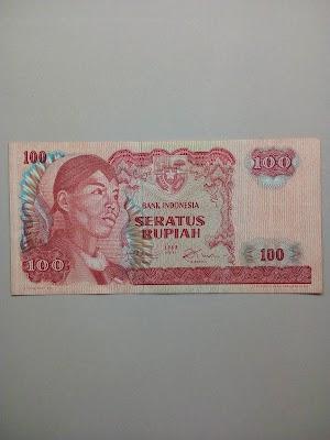 100 rupiah tahun 1968