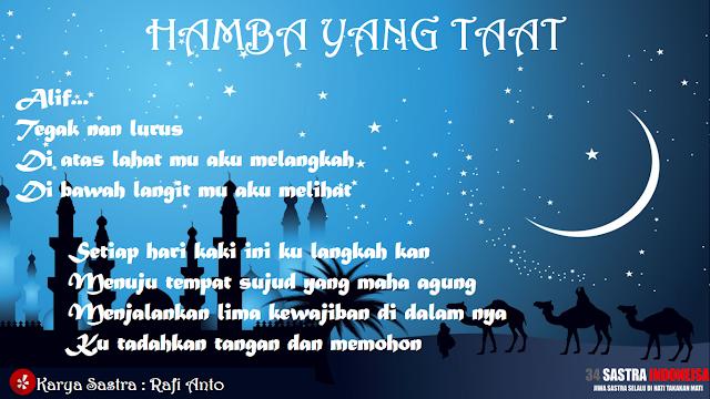 Puisi agama Hamba yang taat | 34 Sastra Indonesia