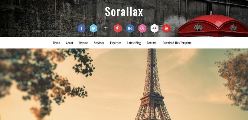 Sorallax Free Blogger Template