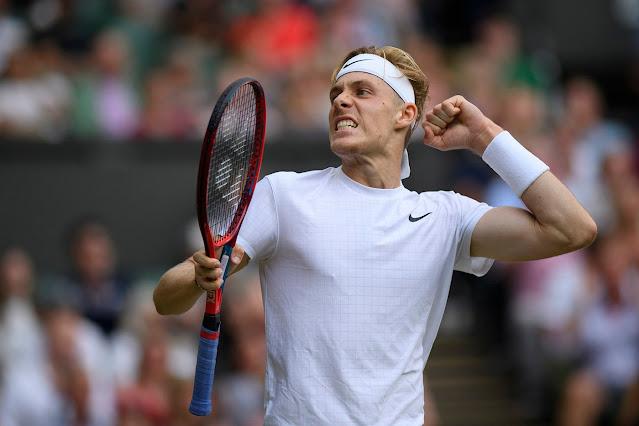Denis Shapovalove chega pela primeira vez nas oitavas de final em Wimbledon