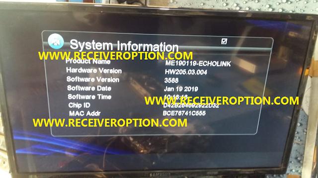 HARDWARE VERSION HW205.03.004 TYPE HD RECEIVER POWERVU KEY NEW SOFTWARE