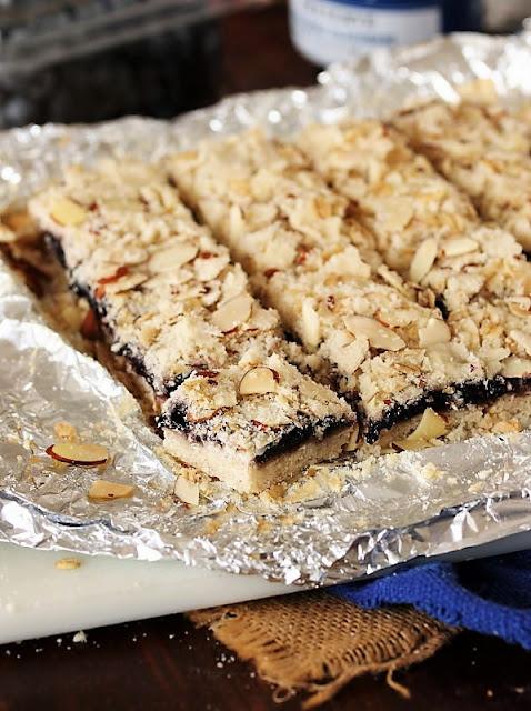 Cutting Blueberry-Almond Bars Image