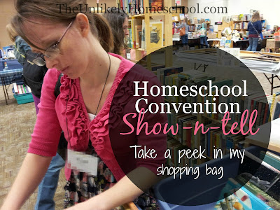 Homeschool Convention Show-n-Tell {The Unlikely Homeschool}
