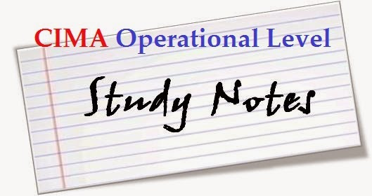 Free CIMA Operational Level Study Notes,Study texts ,Exam Tips and