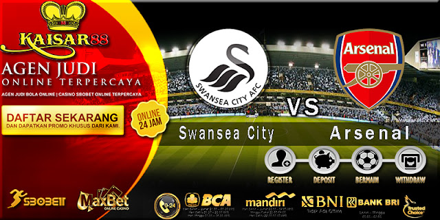 Prediksi Bola Jitu Swansea City vs Arsenal 31 Januari 2018