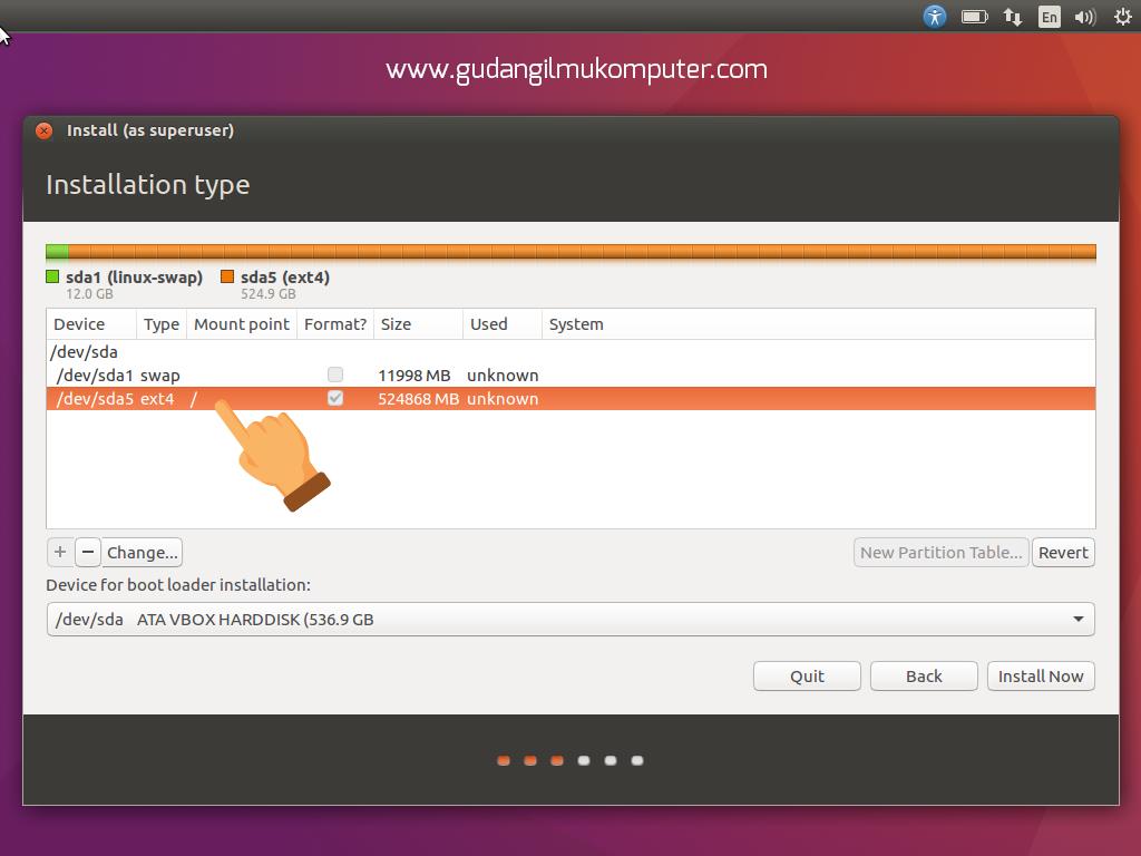 Cara Instal Ubuntu 1604 Lengkap Dengan Gambar 1 Set Komputer