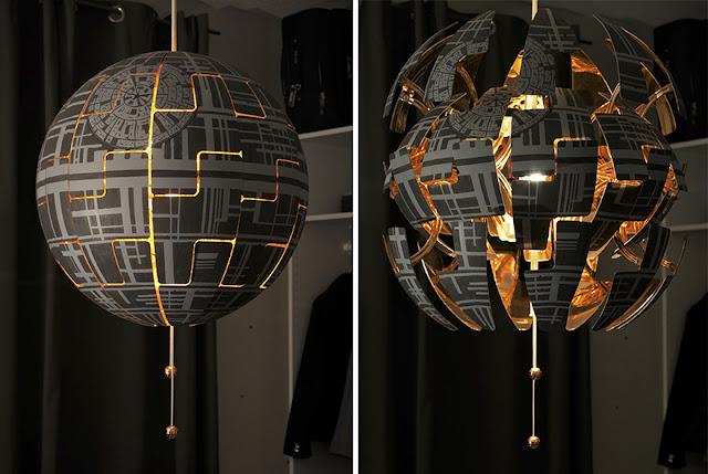 映画スター・ウォーズに触発されたアートな作品7選【art】IKEA のランプをデススターに
