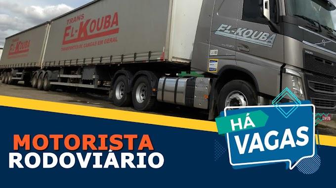 Transportadora El-Kouba abre vagas para motorista carreteiro