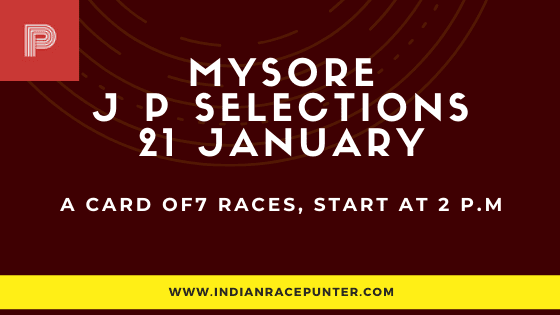 Mysore Jackpot Selections 21 January, Jackpot Selections by indianaracepunter,