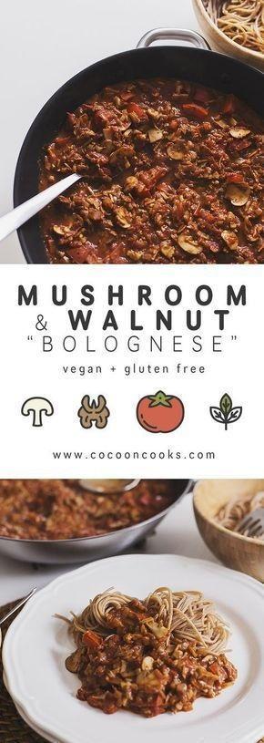 Mushroom & Walnut Spicy [Bolognese]