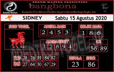 Prediksi Bangbona Sydney Sabtu 15 Agustus 2020</strong